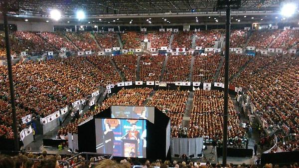 815 days and teachers are striking we won but the for Door 9 rod laver arena