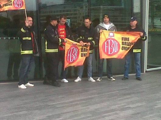 There were many more FBU members present, but they wouldn't clump together in a conveniently snappable bunch